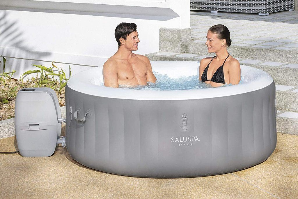 bestway st lucia inflatable hot tub